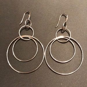 "SILPADA ""Space Out"" .925 Sterling Hoop Earrings"